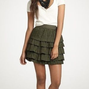 J. Crew | Crinkled Tier Mini Skirt